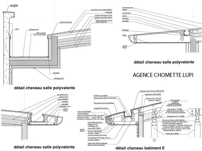 Detail Cheneau Zinc Revetements Modernes Du Toit